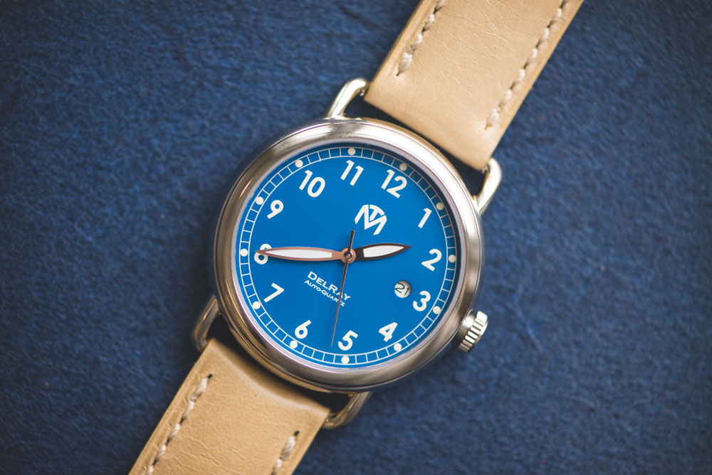 McDowell Time DelRay Blue on leather