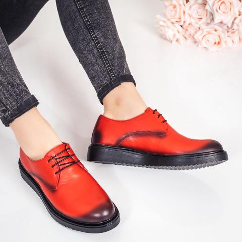 Pantofi dama casual Piele portocalii