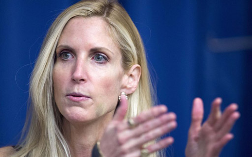 "The Palm Beach Post reports that during an event at the Kravis Center last night, conservative pundit Ann Coulter called Donald Trump ""a shallow, narcissistic con man."""