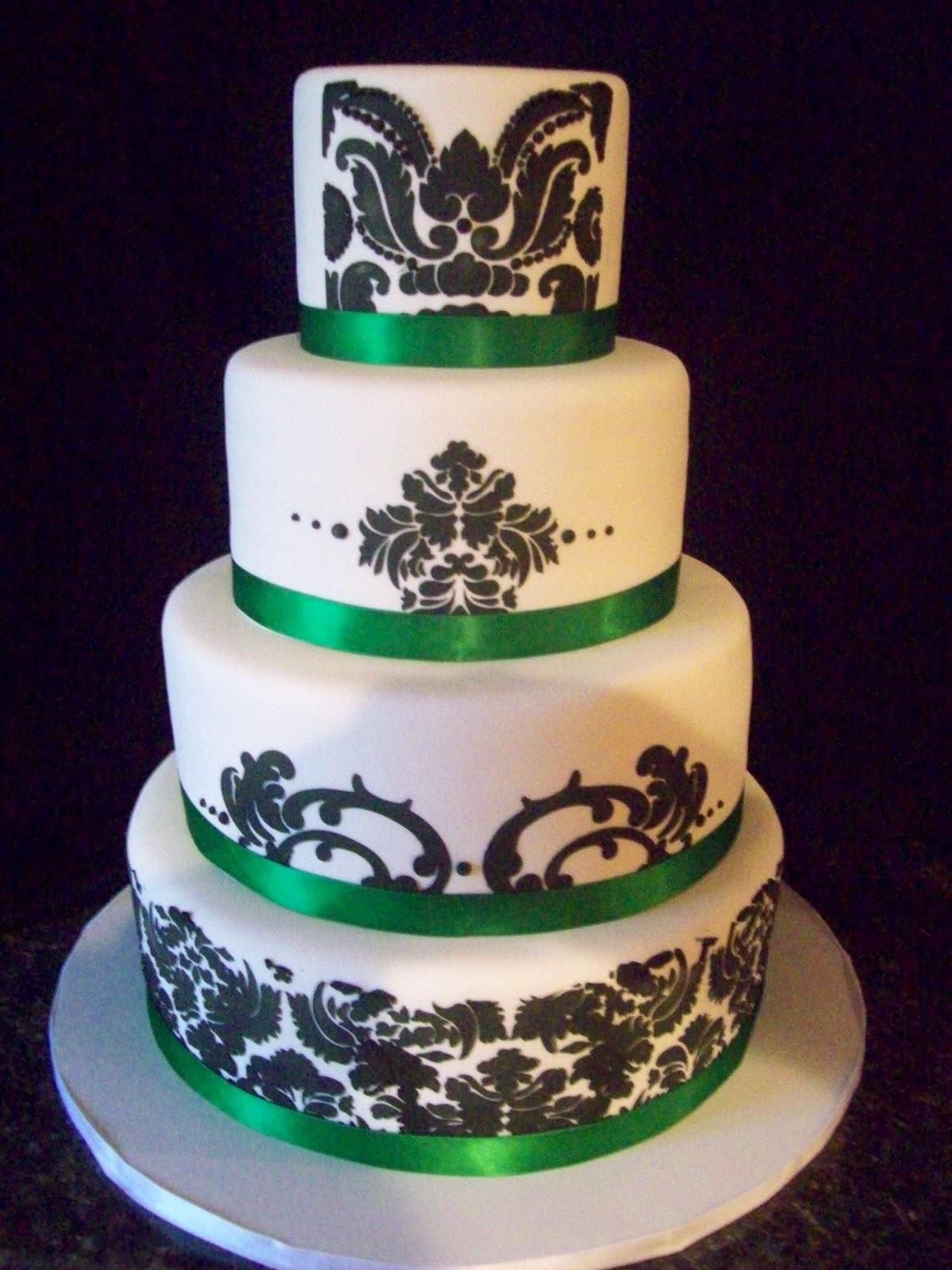 Brown Sugar Custom Cakes Damask Cake