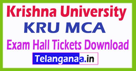 Krishna University KRU MCA Exam Hall Tickets Download