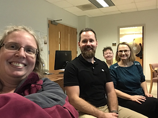 Foreign language instructors in the Instructional Tech lab