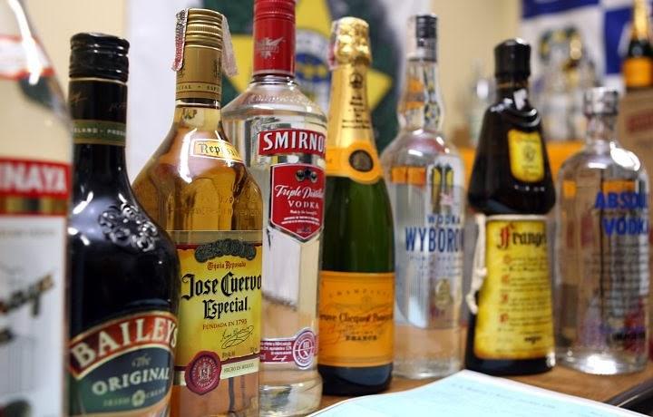 Bebidas Alcoólicas, Tipos de Bebidas Alcoólicas