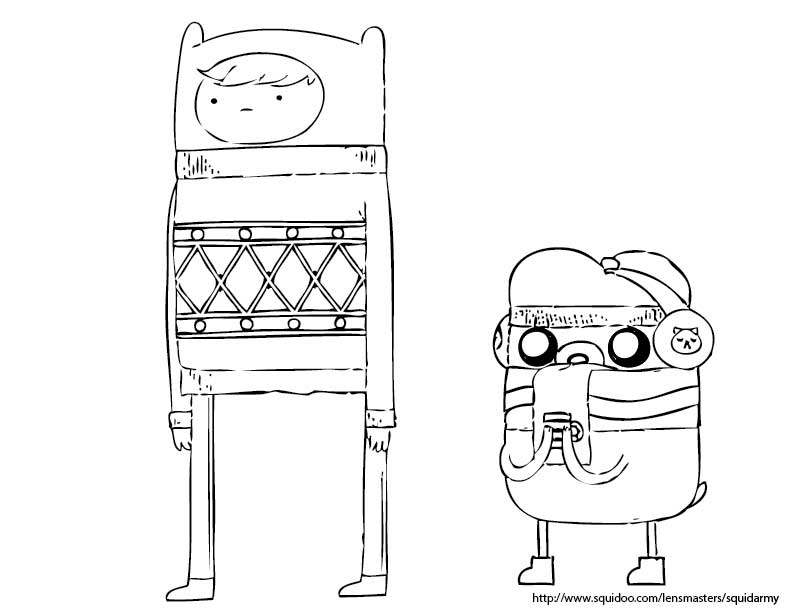 Free Printable Adventure Time Coloring Pages For Kids | 612x792
