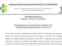 Penerimaan CPNS Kementerian Kesehatan 2017, Pendaftaran Online Hingga 26 September