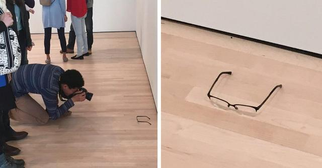 people mistook glass for an art