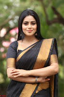 Poorna in Cute Backless Choli Saree Stunning Beauty at Avantika Movie platinum Disc Function ~  Exclusive 114.JPG