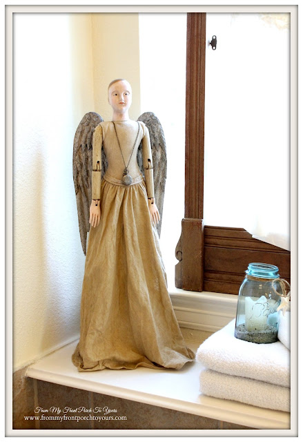 Santos Cage Doll- Ballard Designs-French Country-Farmhouse Master Bathroom- From My Front Porch To Yours