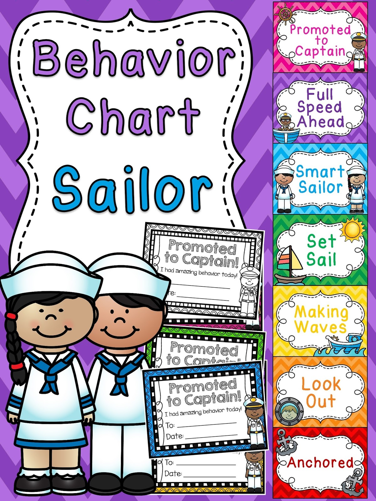 Sailor Behavior Chart For Nautical Theme Clroom A Bunch Of Other Fun Clip Charts