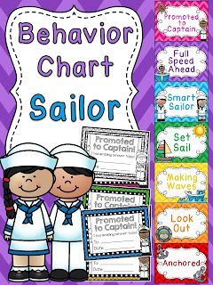 Sailor behavior chart for nautical theme classroom a bunch of other fun behavior clip charts!