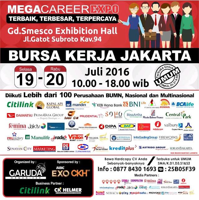 Bursa Kerja Mega Career Expo Jakarta 2016