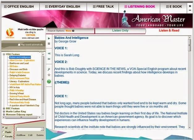 AMERICAN MASTER 1.0 MF - Phần Mềm Học Tiếng Anh Hiện Đại