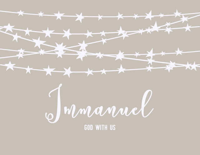 The Backyard Missionary- free Immanuel card