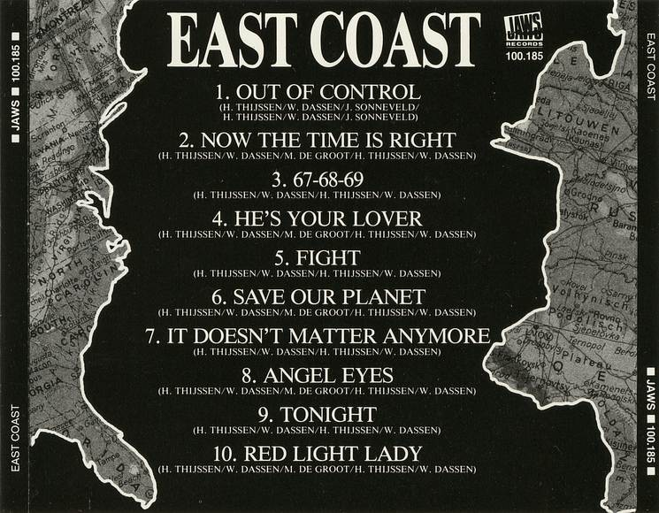 EAST COAST - East Coast (1988) [original Dutch CD] back