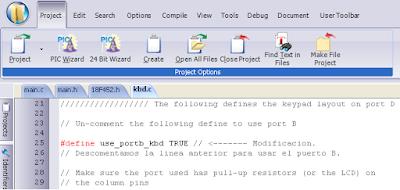 Modificación para usar el puerto B.