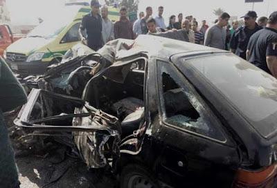 حادث تصادم, حوادث الطرق, طريق صلاح سالم, مصابي الحادث, سيارة الاسعاف, الخدمات المرورية,