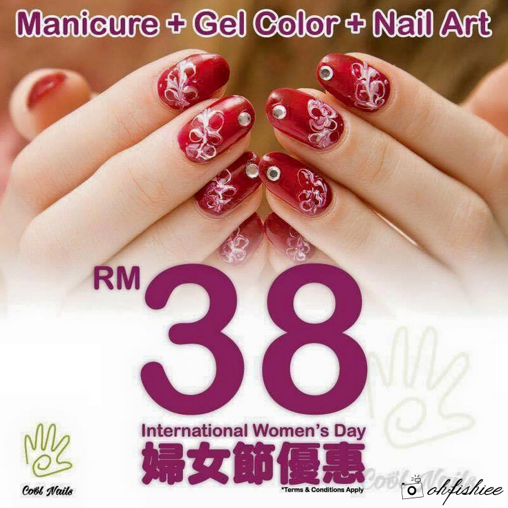 Nail Art Taman Ratu: Oh{FISH}iee: Review: Women's Day Gel Manicure Promotion