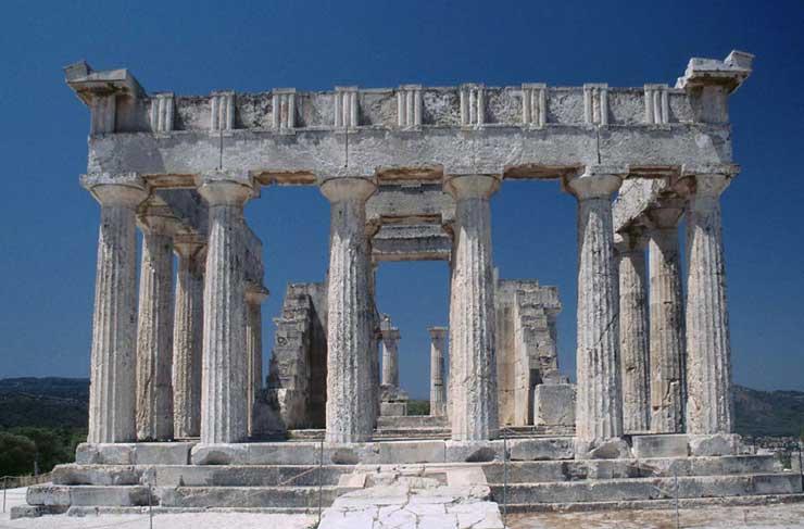 Templo de aphaia en egina comentario aula de historia for Arquitectura de grecia