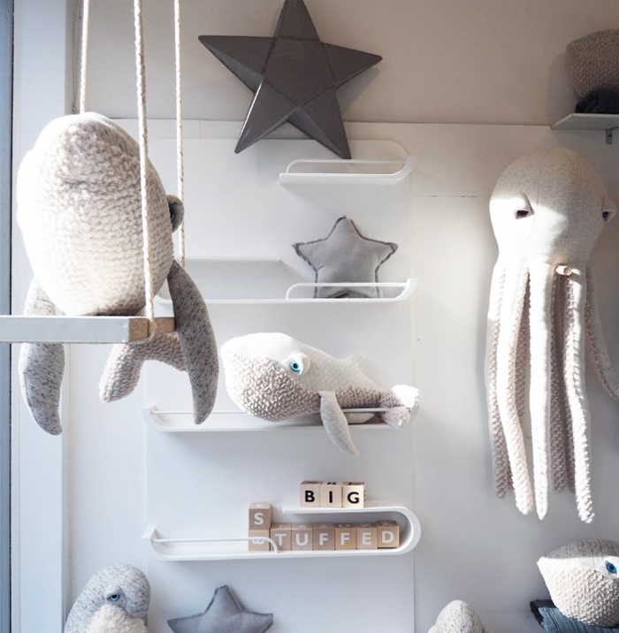 Big stuffed animals at Molly Meg store London - XL shelf Rafa-kids