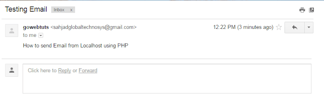 Send Email from Localhost in PHP