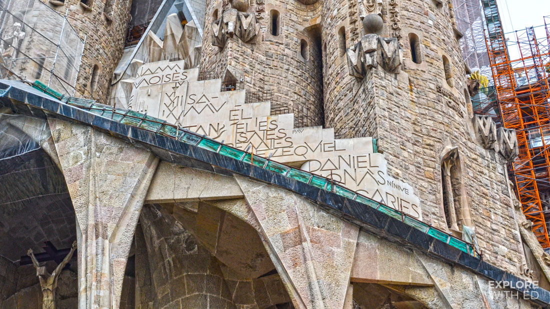 Symbols and Religious texts inscribed on the Sagrada Família