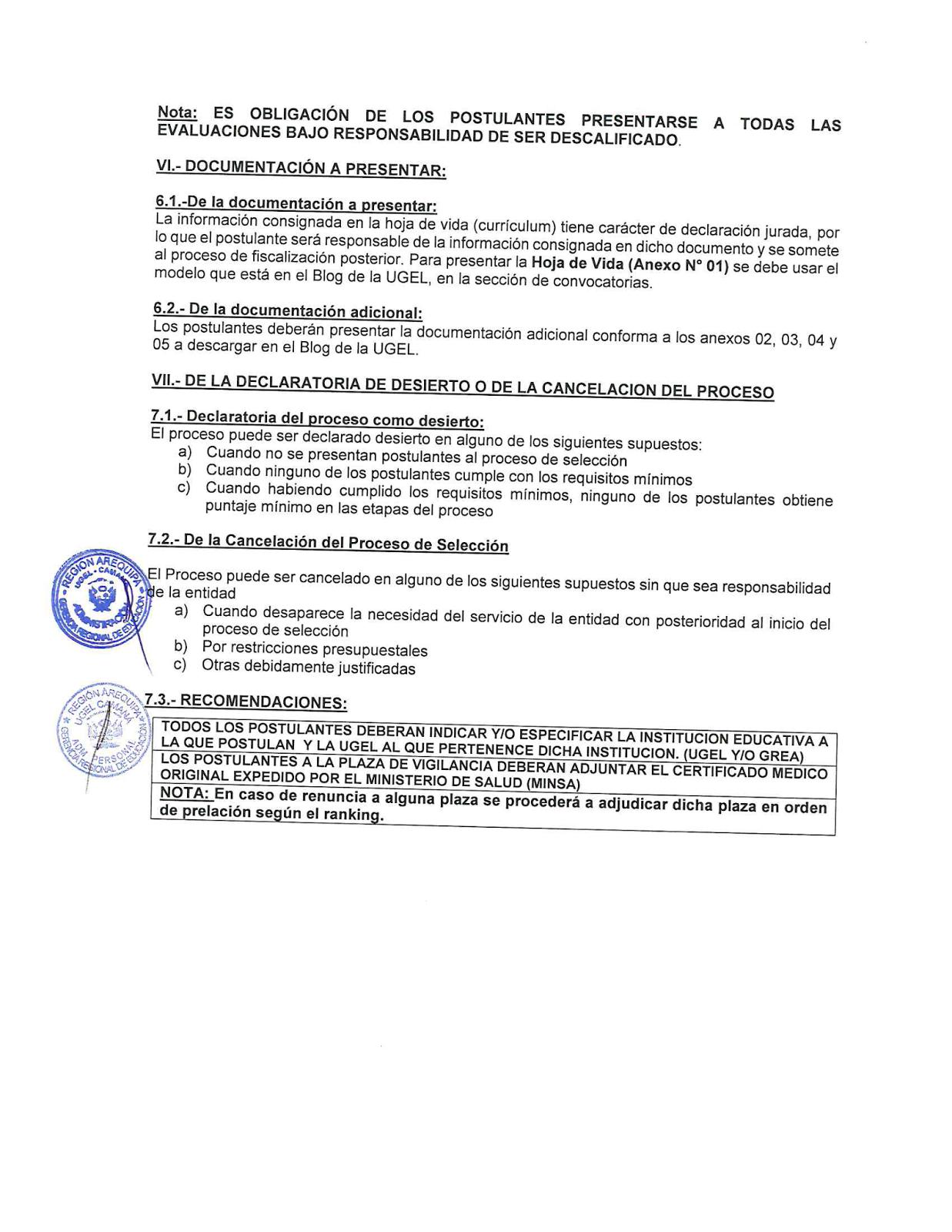 Convocatoria cas para especialista en finanzas ugel for Convocatoria para docentes