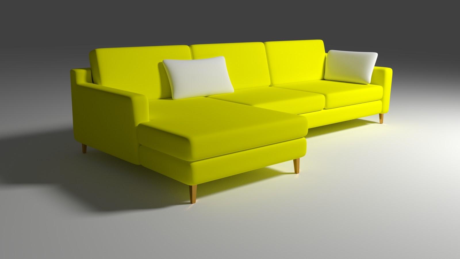 Free 3D Sofa Minimalist .blend file