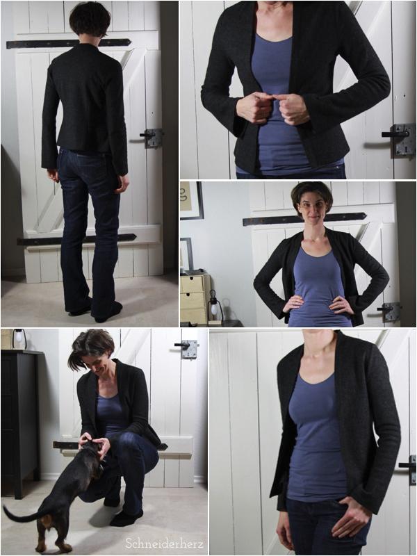 Schlichte Jacke Wollwalk Basic Wardrobe