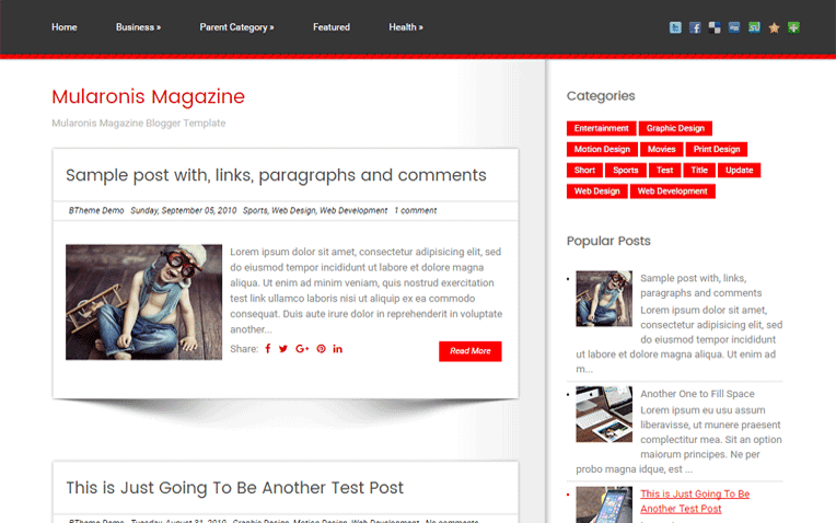 Mularonis Free Blogger Template