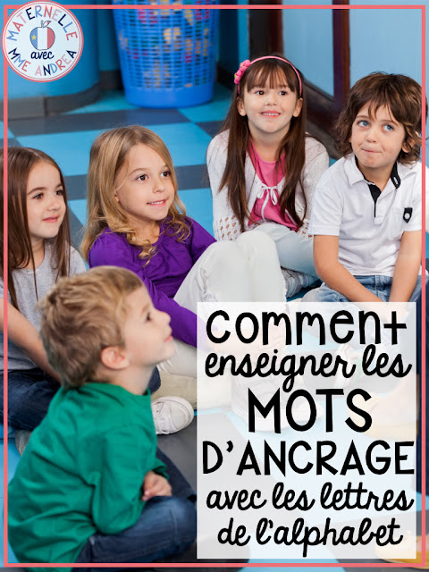 Do you teach your French maternelle students les mots d'ancrage (anchor words) when you are teaching them the alphabet? Check out this blog post to learn what anchor words are, why they are important, and some favourite ideas & resources for teaching them!