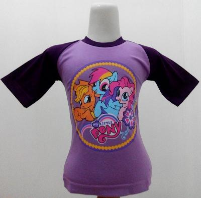Kaos Raglan Anak Karakter My Little Pony 4 Ungu Muda