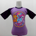 My Little Pony 4 - Kaos Raglan Anak Karakter My Little Pony 4 Ungu Muda (KAK-MLP-04)