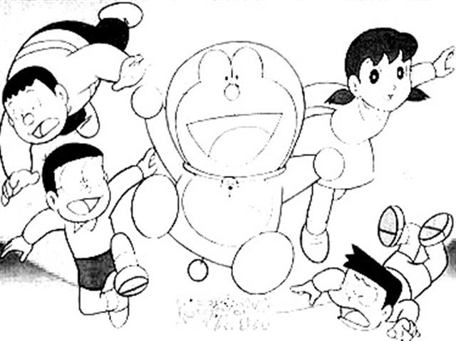 Cartoons Coloring Pages: Doraemon Coloring Pages