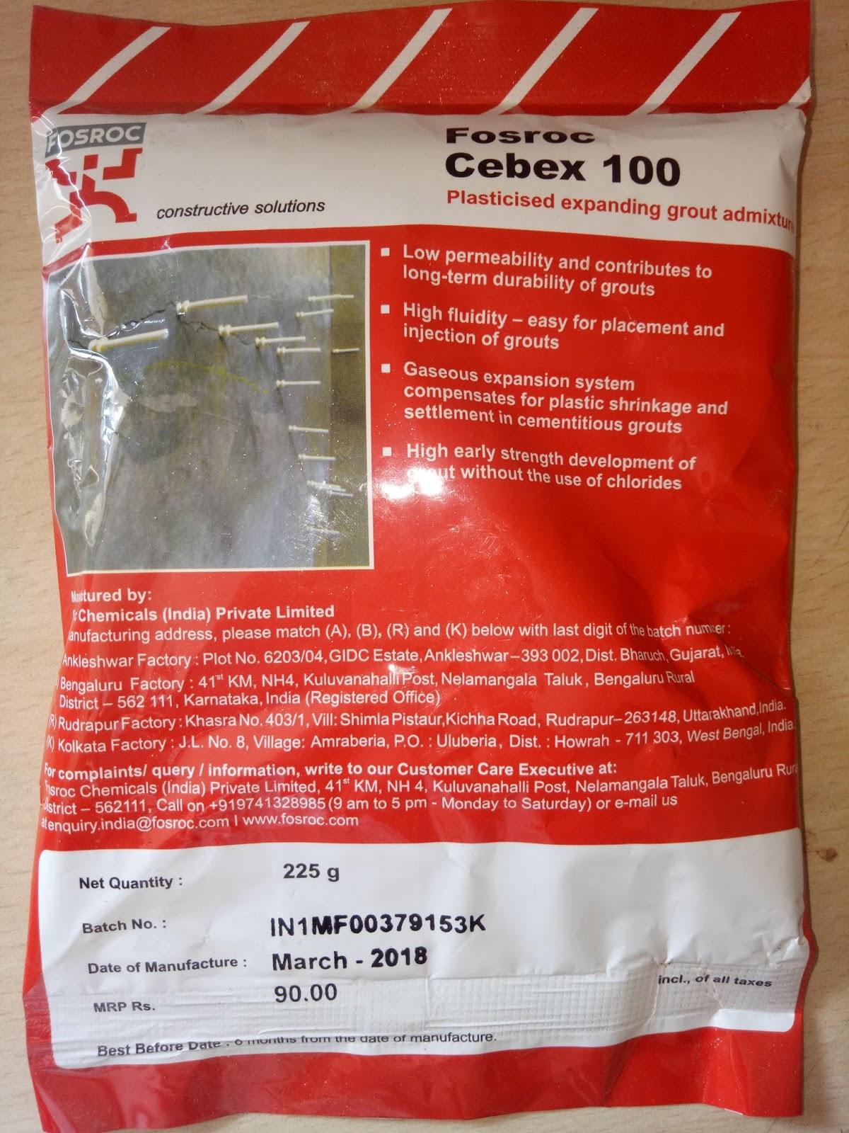 Dealer Distributor Applicator: Fosroc Cebex 100 In Bihar
