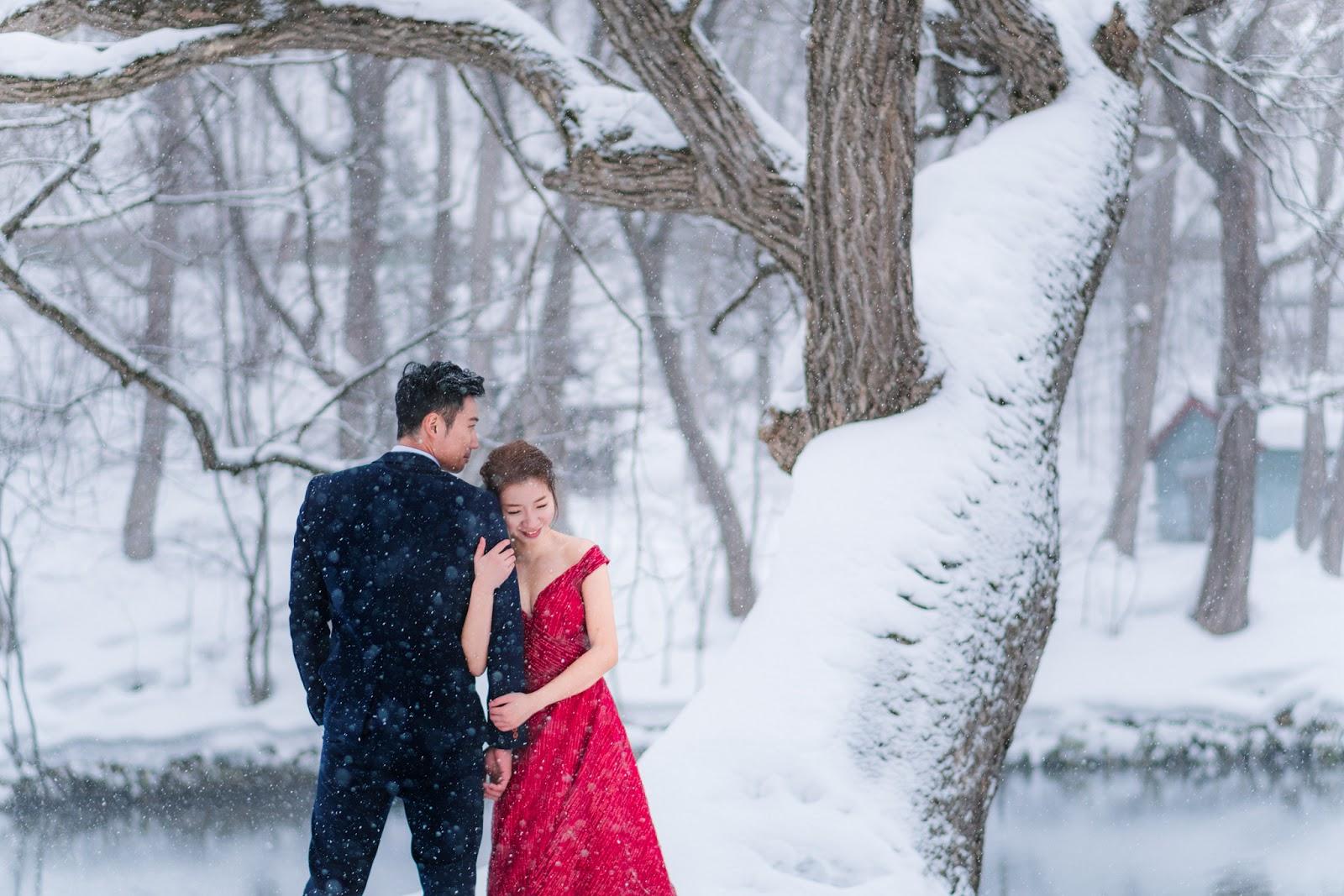 日本海外婚紗 世界最美的北海道雪景婚紗 台北海外婚紗推薦 瑪朵婚紗