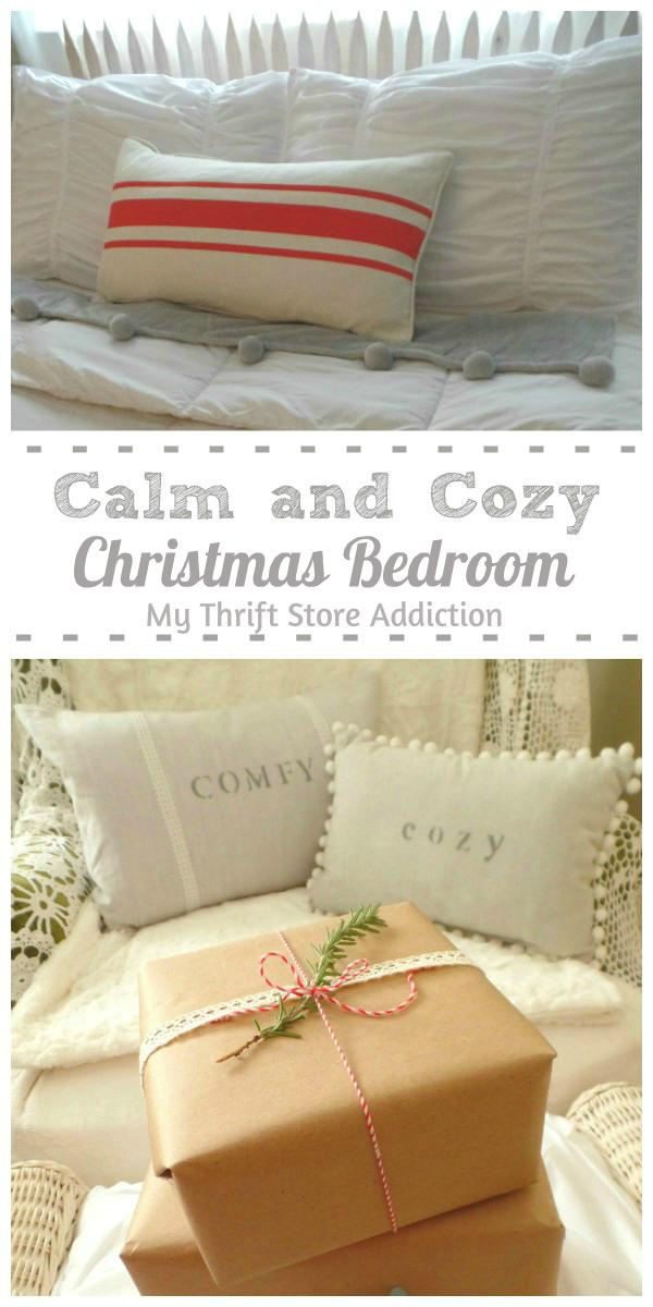 calm cozy Christmas bedroom