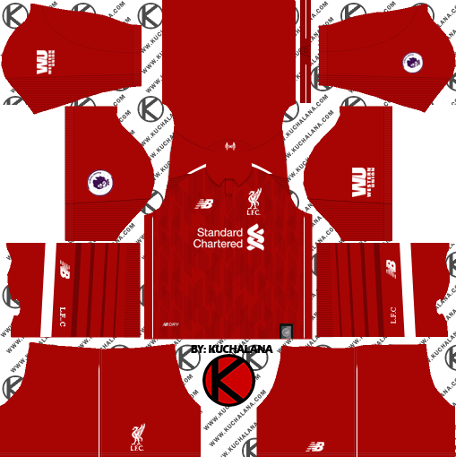 01bd8012251 Liverpool FC 2018 19 Kit - Dream League Soccer Kits - Kuchalana