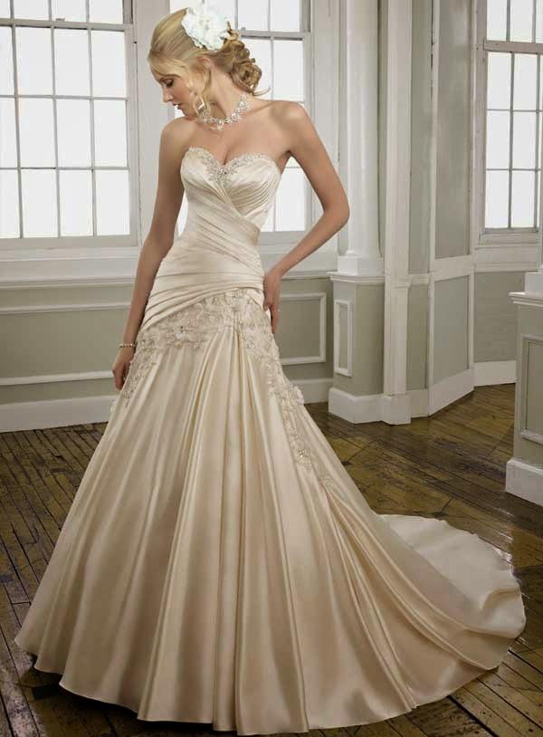 Champagner Hochzeitskleid
