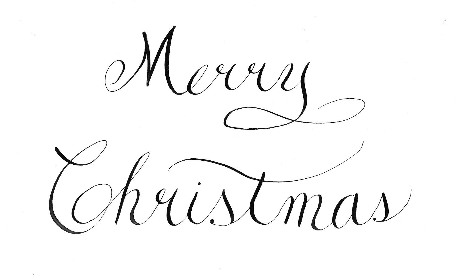 Merry Christmas Writing.Writing By Hand Merry Christmas