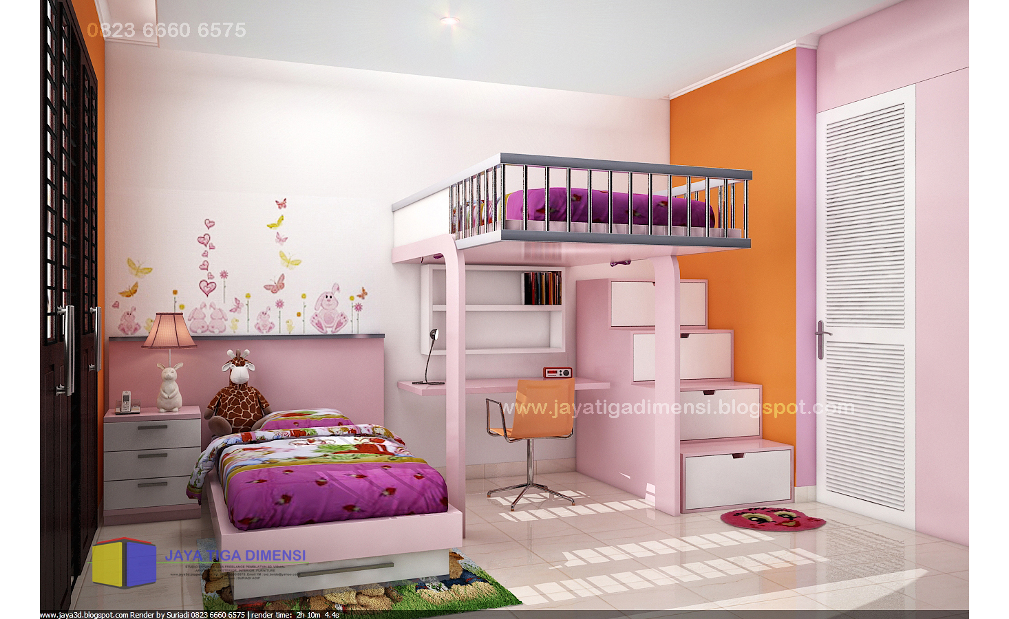 55 Desain Kamar Tidur Anak Perempuan Unik Minimalis Sederhana