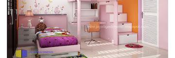 Cat Kamar Anak Perempuan Sederhana