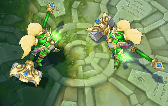 Mod Skin Poppy Battle Regalia Golden Green