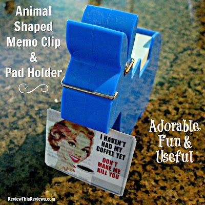 Animal Shaped Memo Clip Holder Note Pad Dispenser Organizer Review