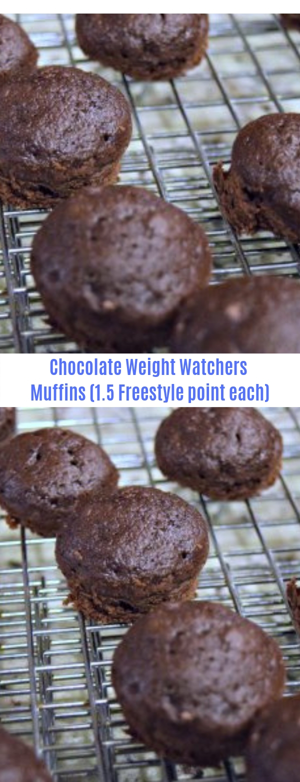Chocolate Weight Watchers Muffins (1.5 Freestyle point each)