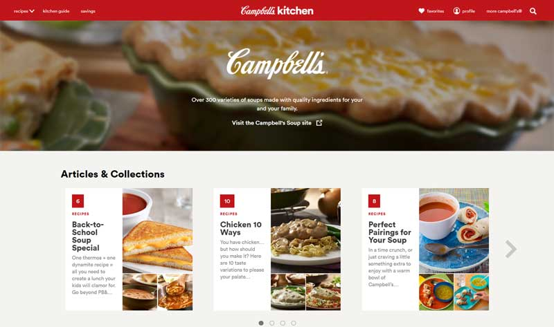 Inbound marketing example - Campbell's Soup