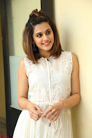 Taapsee Pannu in cream Sleeveless Kurti and Leggings at interview about Anando hma ~  Exclusive Celebrities Galleries 023.JPG