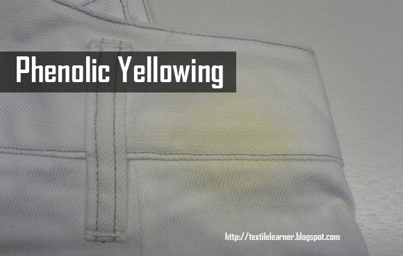 yellowing on textile