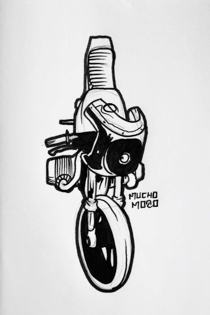 Ed Turner Motorcycles - Illustration by MuchoMoto