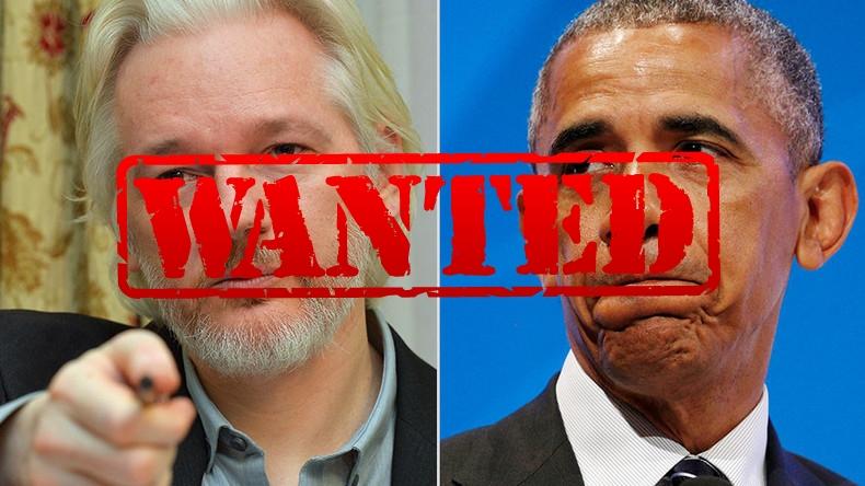 Source: Reuters - Julian Assange et Barack Obama