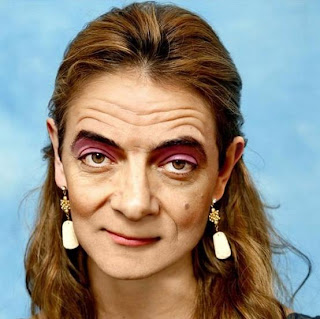 funny picture bean rowan atkinson woman